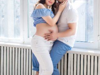 Фотосессия беременных c мужем в Алматы